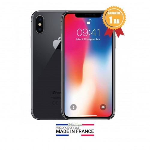 Apple iPhone X Noir Gris sidéral...
